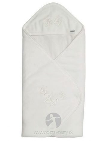 biela zavinovacia deka