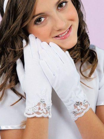 detske biele rukavicky